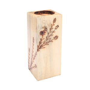"Wood T-light Holder 6"" - Eyaas"