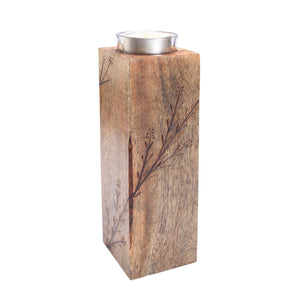"Wood T-Light Holder 8"" - Eyaas"