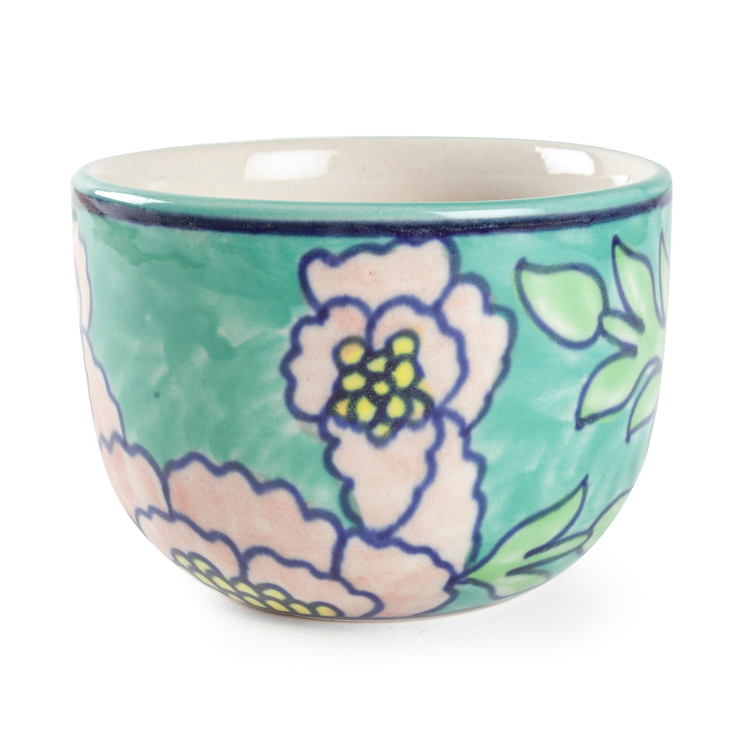 Handpainted Ceramic U Bowls - 4x3