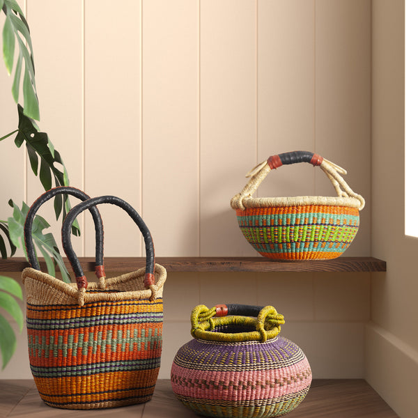 "Round Basket - 13"" Single PC"