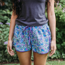 Load image into Gallery viewer, Blue Paisley Print Sleep Shorts