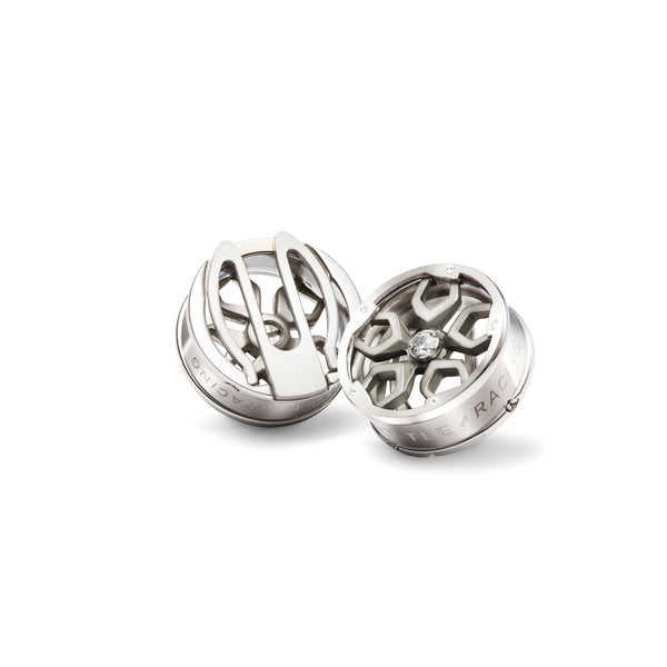 Speed Racer Button Covers (Titanium Silver)