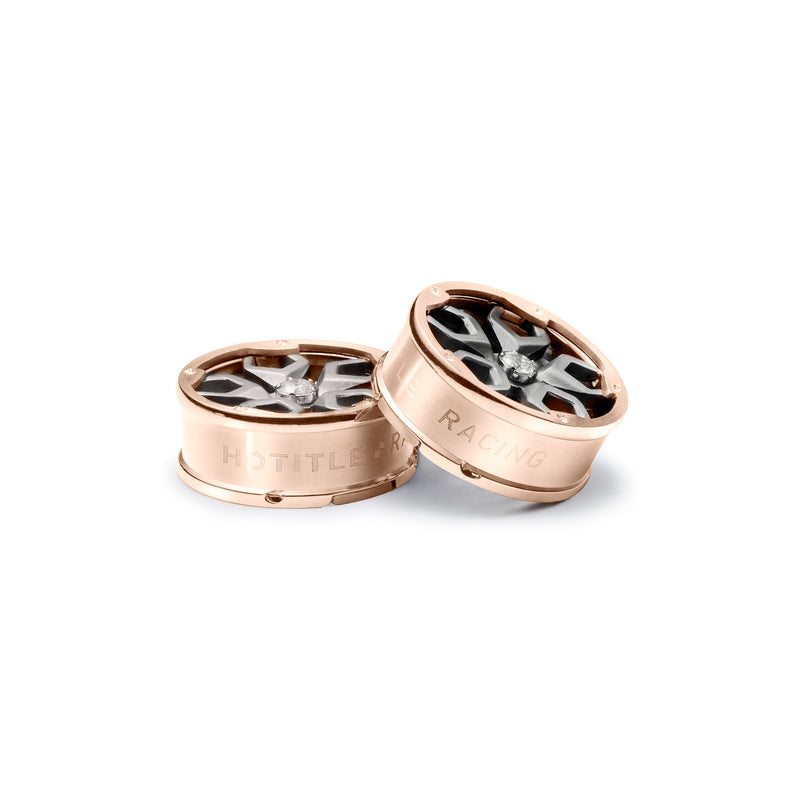 Speed Racer Button Covers (Rose Gold)