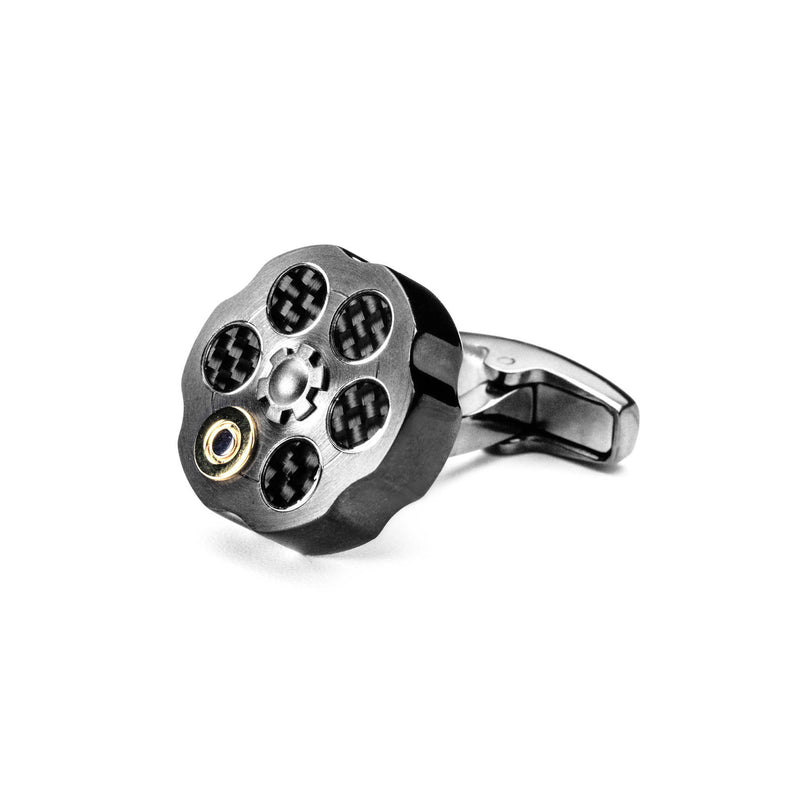 Roulette Cufflinks (Metallic Grey)