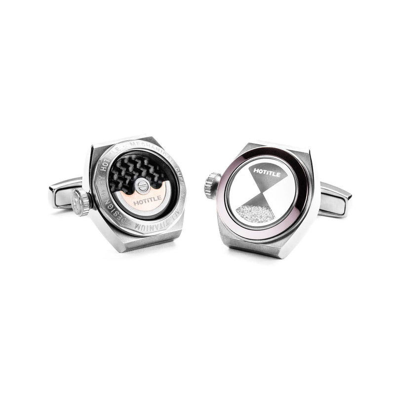 Eternity Interchangeable Cufflinks (Titanium Silver Set B)