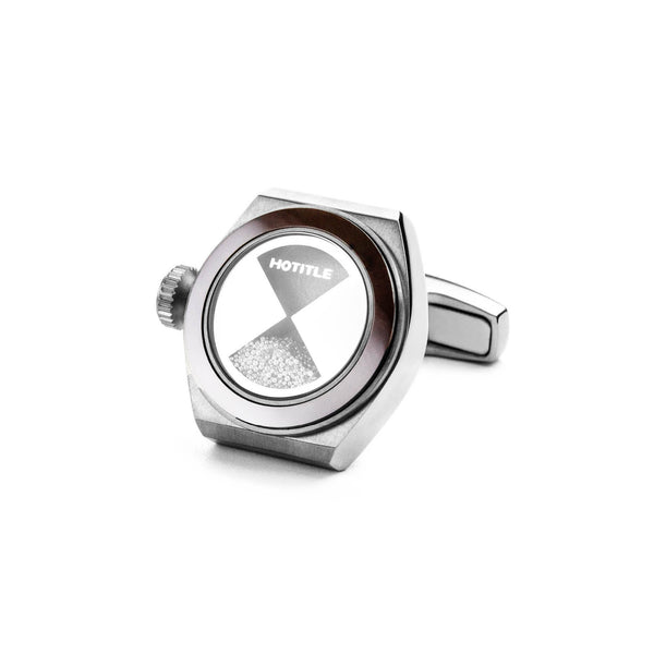 Eternity Cufflinks (Titanium Silver Set B)