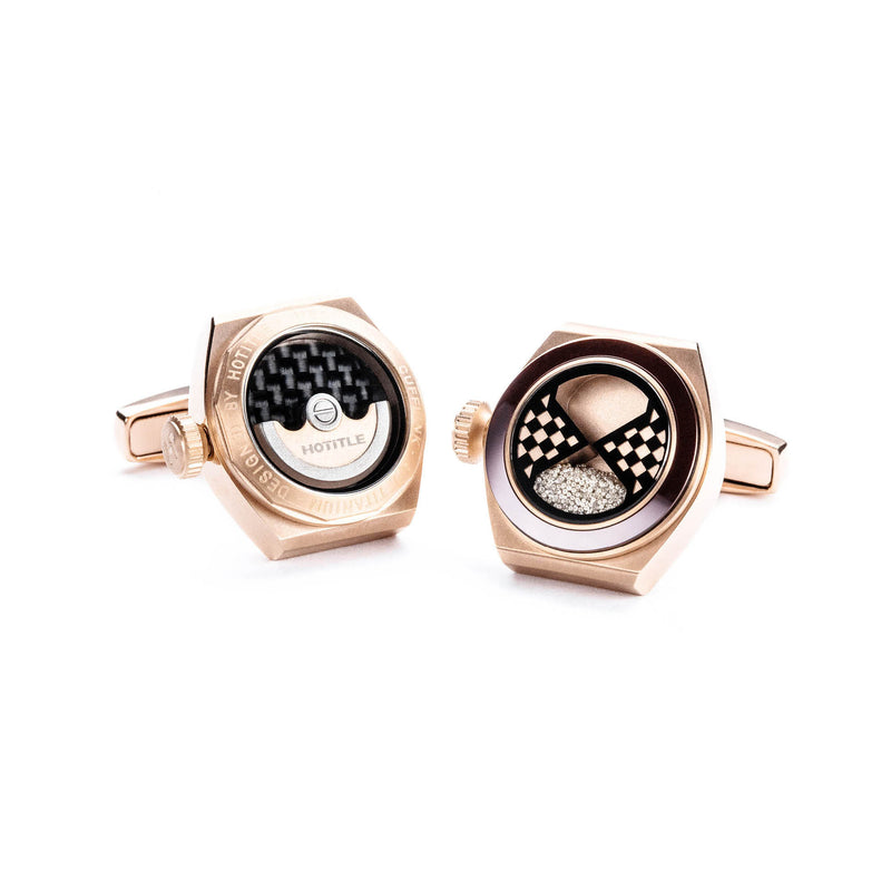 Eternity Interchangeable Cufflinks (Rose Gold)