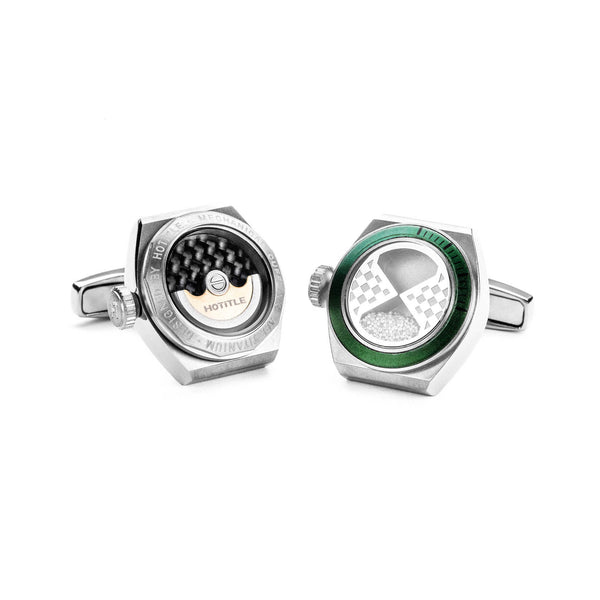 Eternity Cufflinks (Titanium Silver Set A)