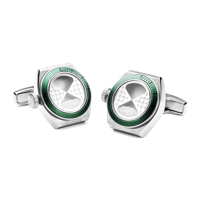Eternity Interchangeable Cufflinks (Titanium Silver Set A)