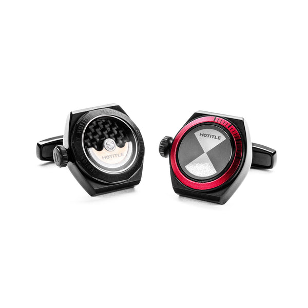 Eternity Interchangeable Cufflinks (Black Set D)