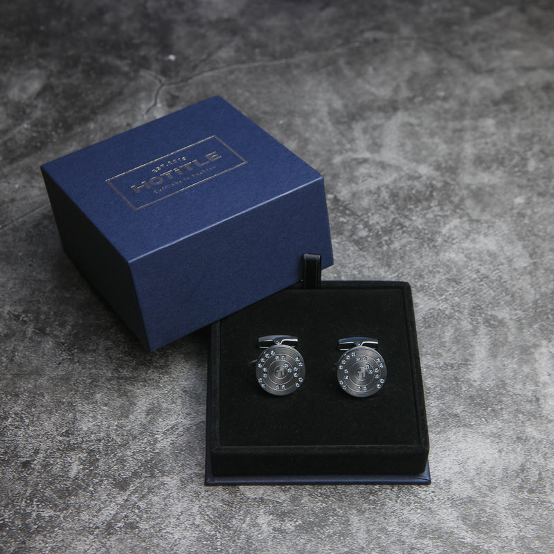 Ti22 Cufflinks (Metallic Grey)