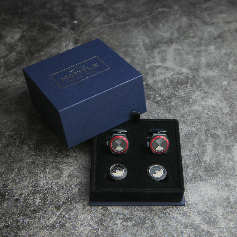Eternity Cufflinks (Black Set D)