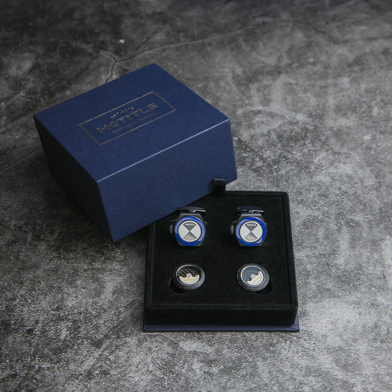 Eternity Interchangeable Cufflinks (Black Set A)