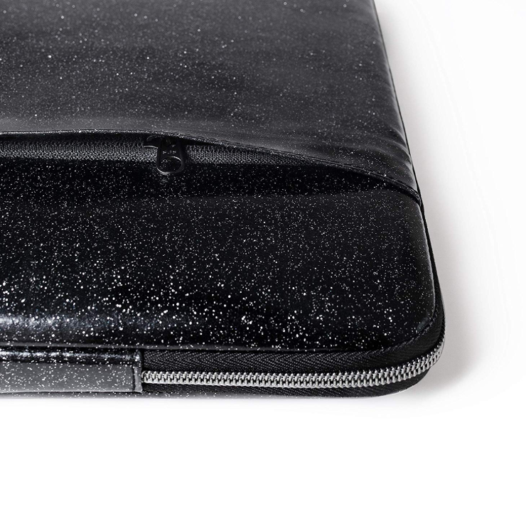"Laptop Sleeve for MacBook Pro & Mac Air (13""&15"") - Black Glitter - Comfyable, LS-VIE-20-13-B-1, LS-VIE-20-15-A-1"