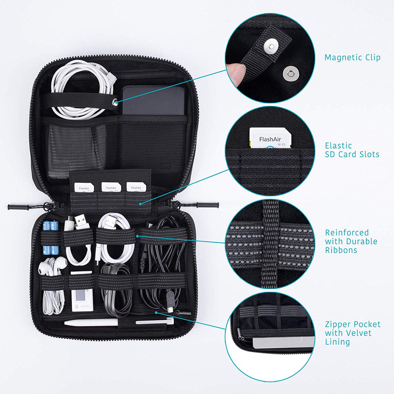 Big Electronics Organizer Bag - Black