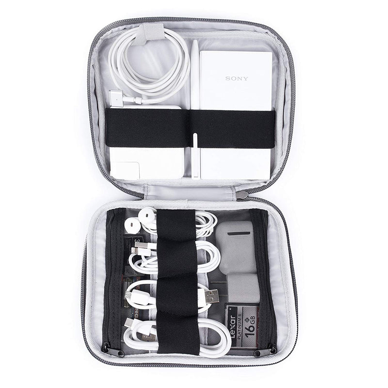 Electronics Travel Organizer Case - Dark Gray