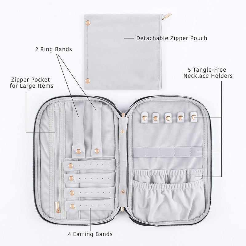 Jewelry Travel Case - Black - Comfyable