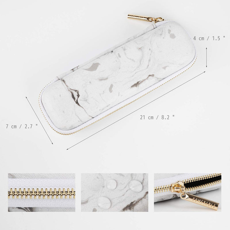 Pencil Holder Pencil Case for Apple Pencil with Mesh Pockets, Marble