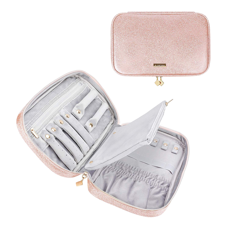 Jewelry Travel Case - Pink Glitter
