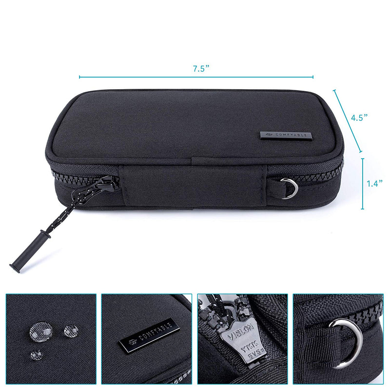 Small Power Cord Holder Bag For Men - Black - Comfyable