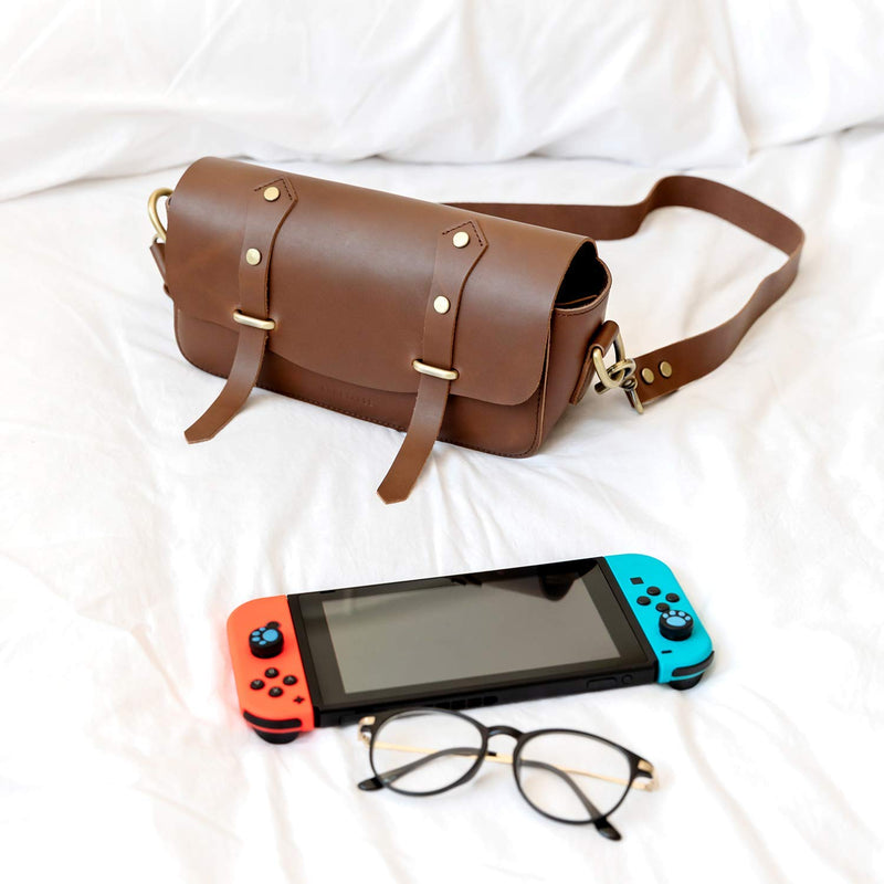 Leather Carrying Storage Case for Nintendo Switch - Comfyable, SSB-SHS-01-A-1