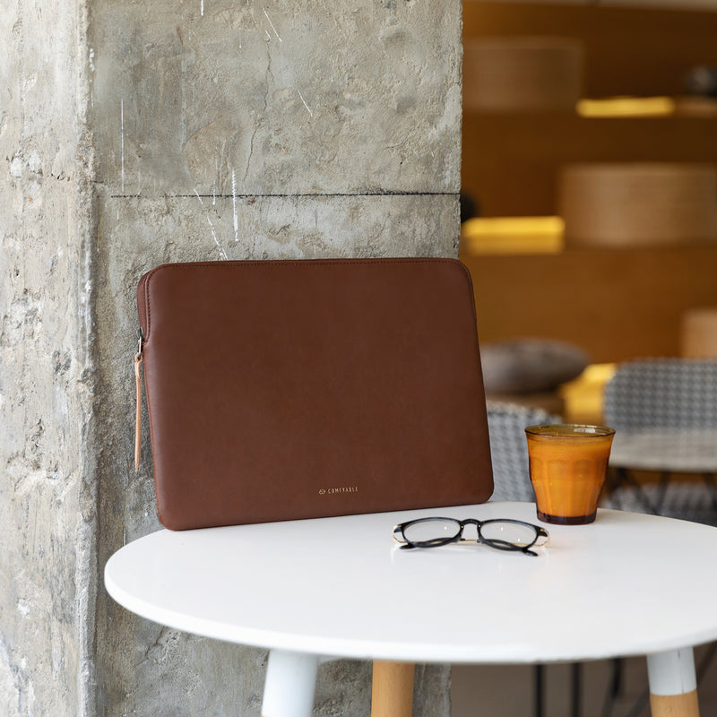 Laptop PU Leather Sleeve 13 inch & 16 inch - Brown