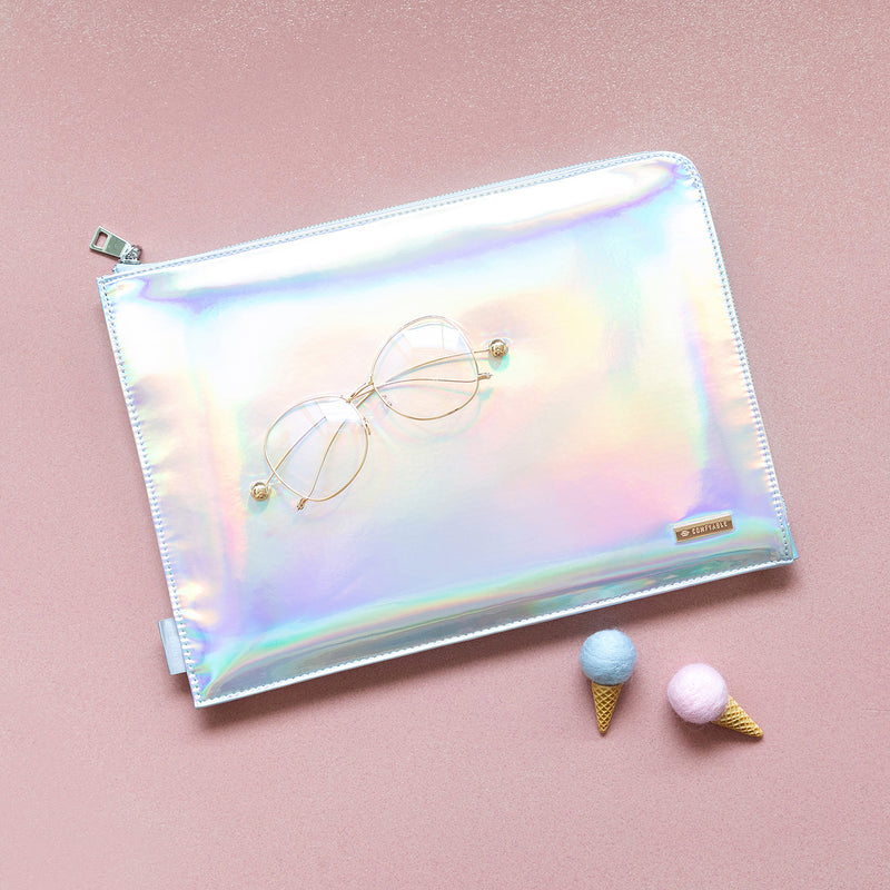 Laptop sleeve 13 inch - Silver Holographic