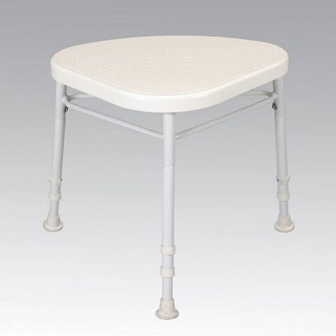 Days White Line Corner Shower Stool