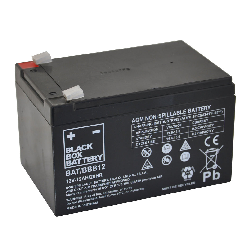 12Ah Black Box AGM Battery