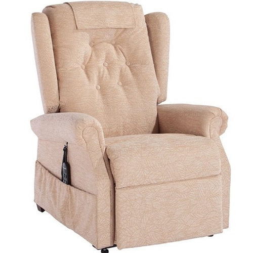 Vienna Button Back Dual Motor Riser Recliner Chair