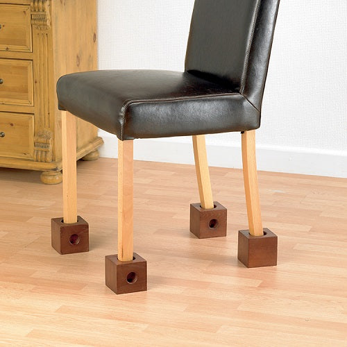 "Chair Risers Wooden 3"" Set of 4"