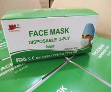 Load image into Gallery viewer, Xian Wanli 3 Ply Surgical Face Mask