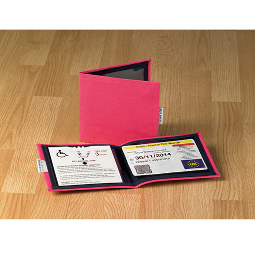 Blue Badge & Timer Wallets Coloured