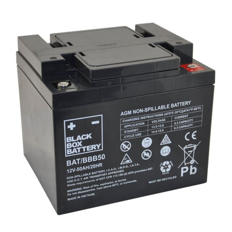 50Ah Black Box AGM Battery