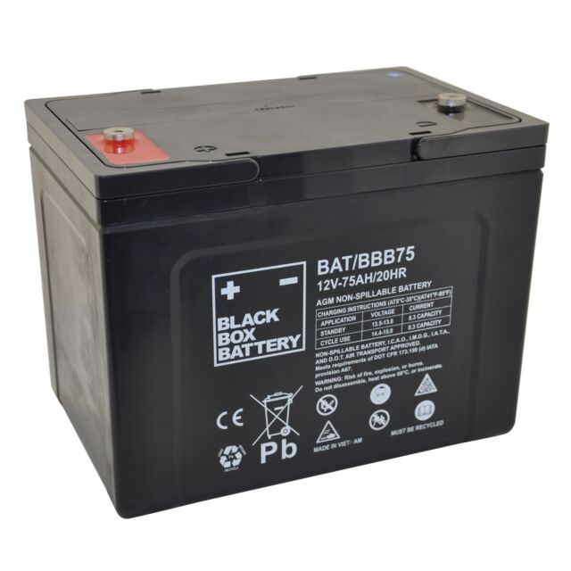 75Ah Black Box AGM Battery