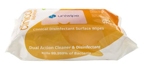 Uniwipe Clinical Grade Sanitising Wipes Pack 200