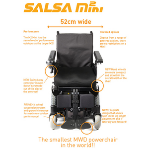 Approved Used Quickie Salsa Mini 2 Power Wheelchair