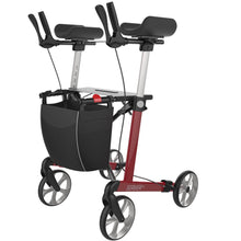 Load image into Gallery viewer, Upright 4 Wheeled Walker Rollator