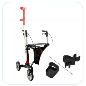 Upright 4 Wheeled Walker Rollator