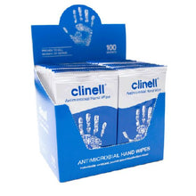 Load image into Gallery viewer, Clinell Antibacterial Hand Wipes (Pack of 100)