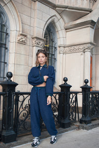 Saverio Navy Sweat-Set