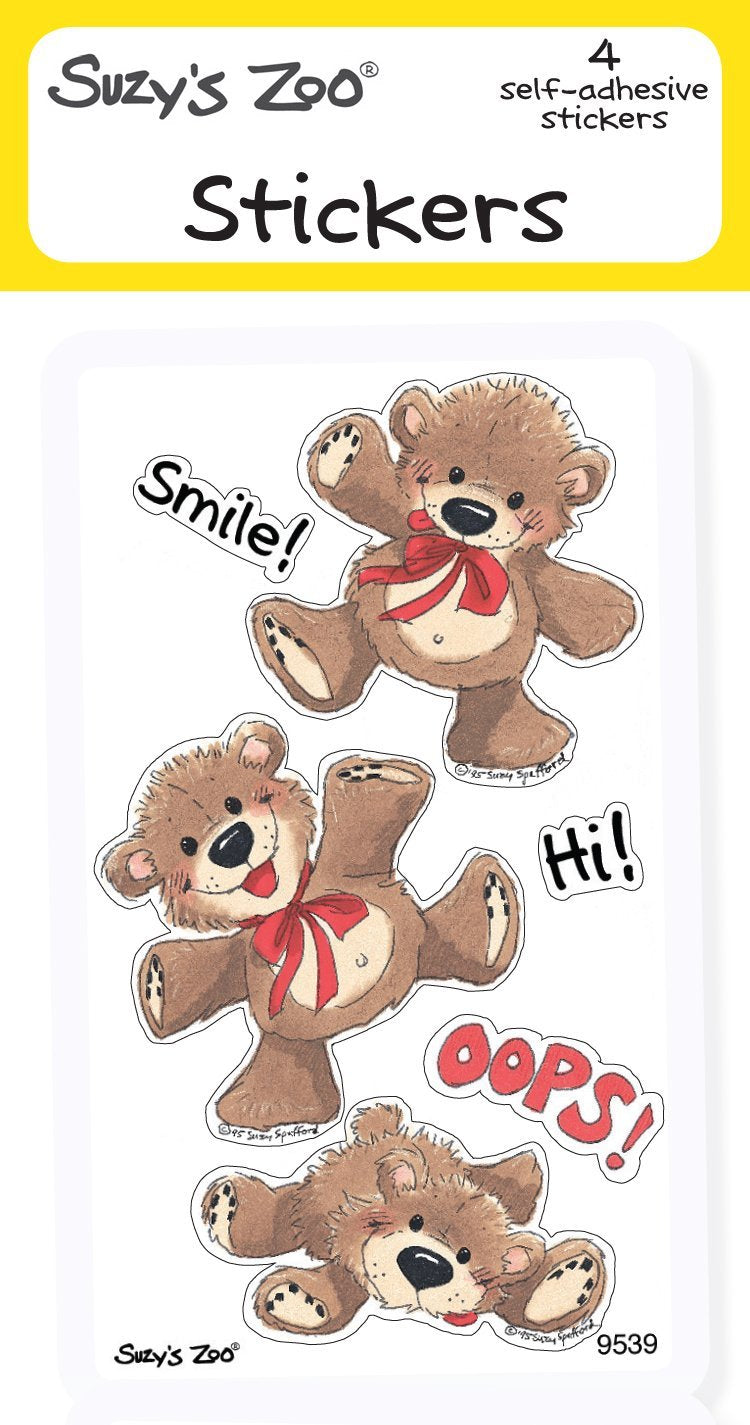 Smile Hi Oops Stickers (4-pack)
