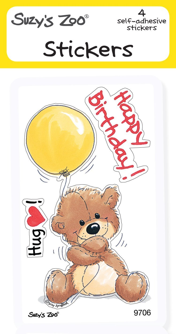 Happy Birthday! Stickers (4-pack)