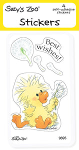 Best Wishes Stickers (4-pack)