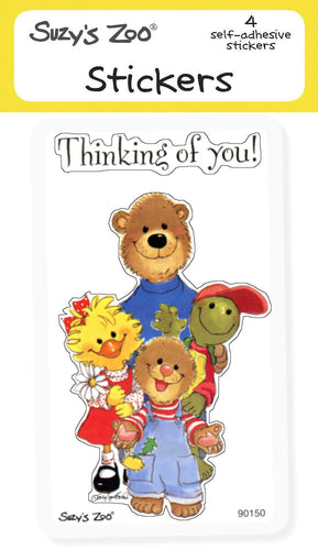 Thinking of you! Stickers (4-pack)