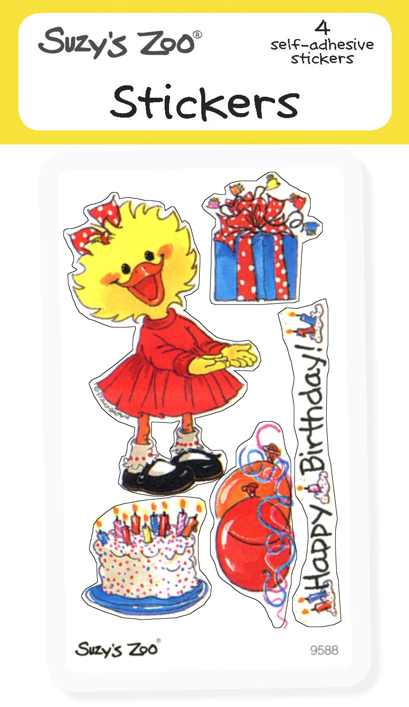 Happy birthday stickers 4 pack