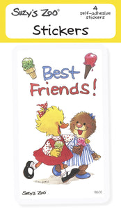 Best Friends! Stickers (4-pack)