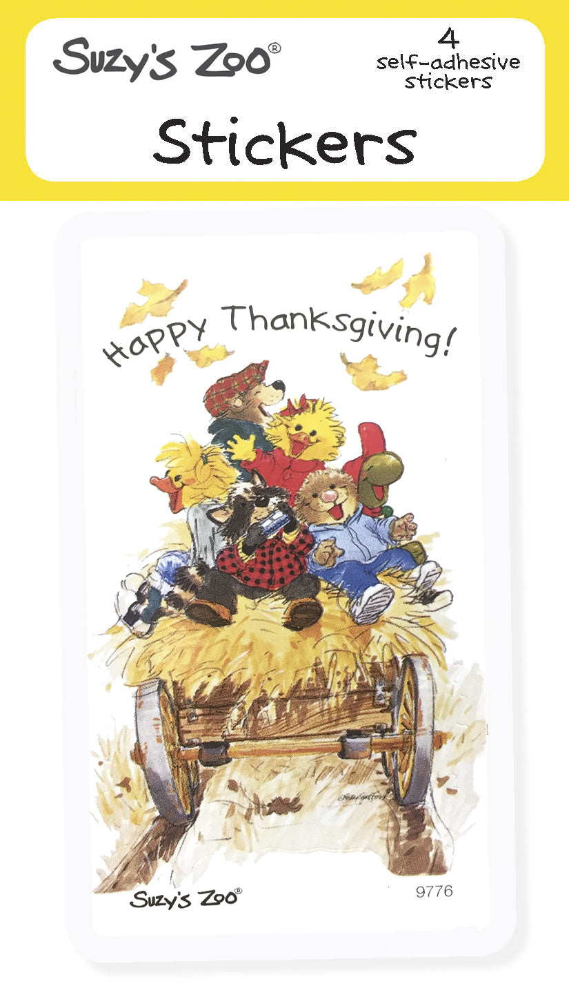 Happy Thanksgiving! Stickers (4-pack)