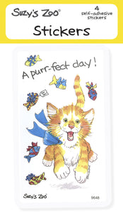 A Purr-fect Day! Stickers (4-pack)