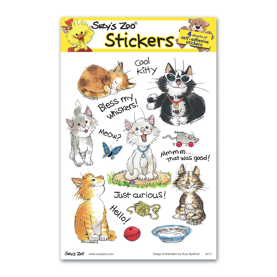 Cats! Multi Stickers (4-pack)